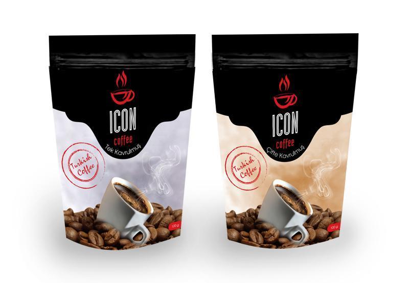 İcon Coffee Ambalaj Çalışması